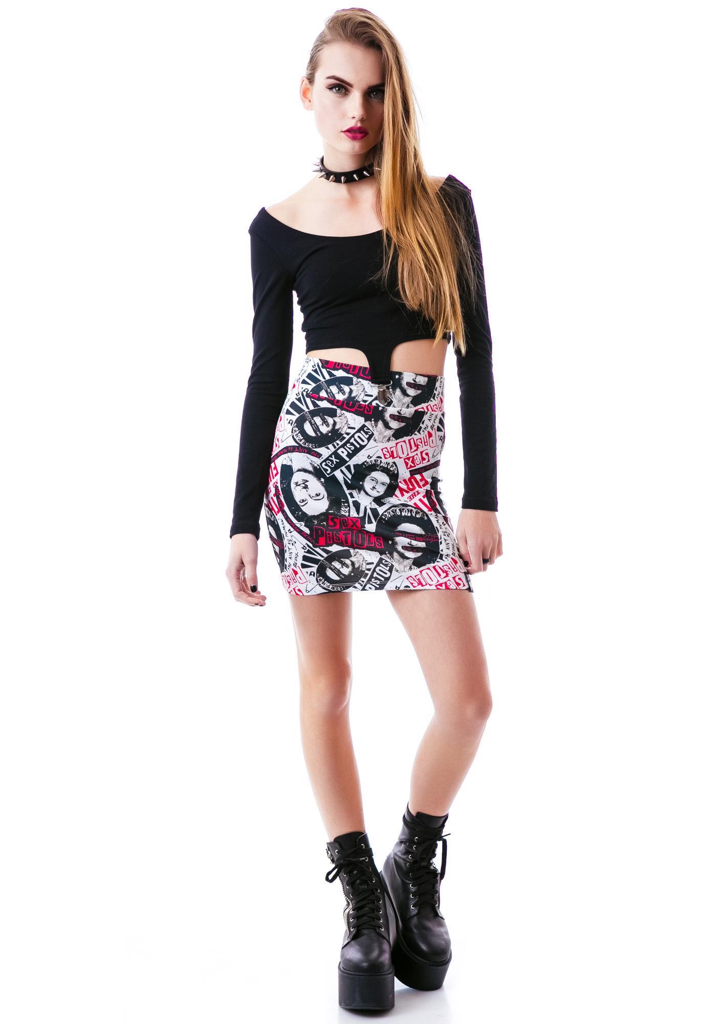 Sourpuss Clothing Sex Pistols No Fun Skirt