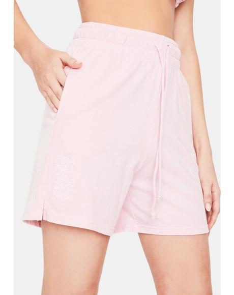Love Pink Burl High Waist Sweat Short