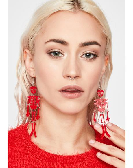 Hot Spooky Bones Earrings