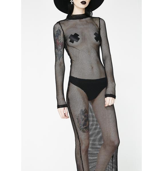 Kiki Riki Wicked Wicked West Fishnet Dress