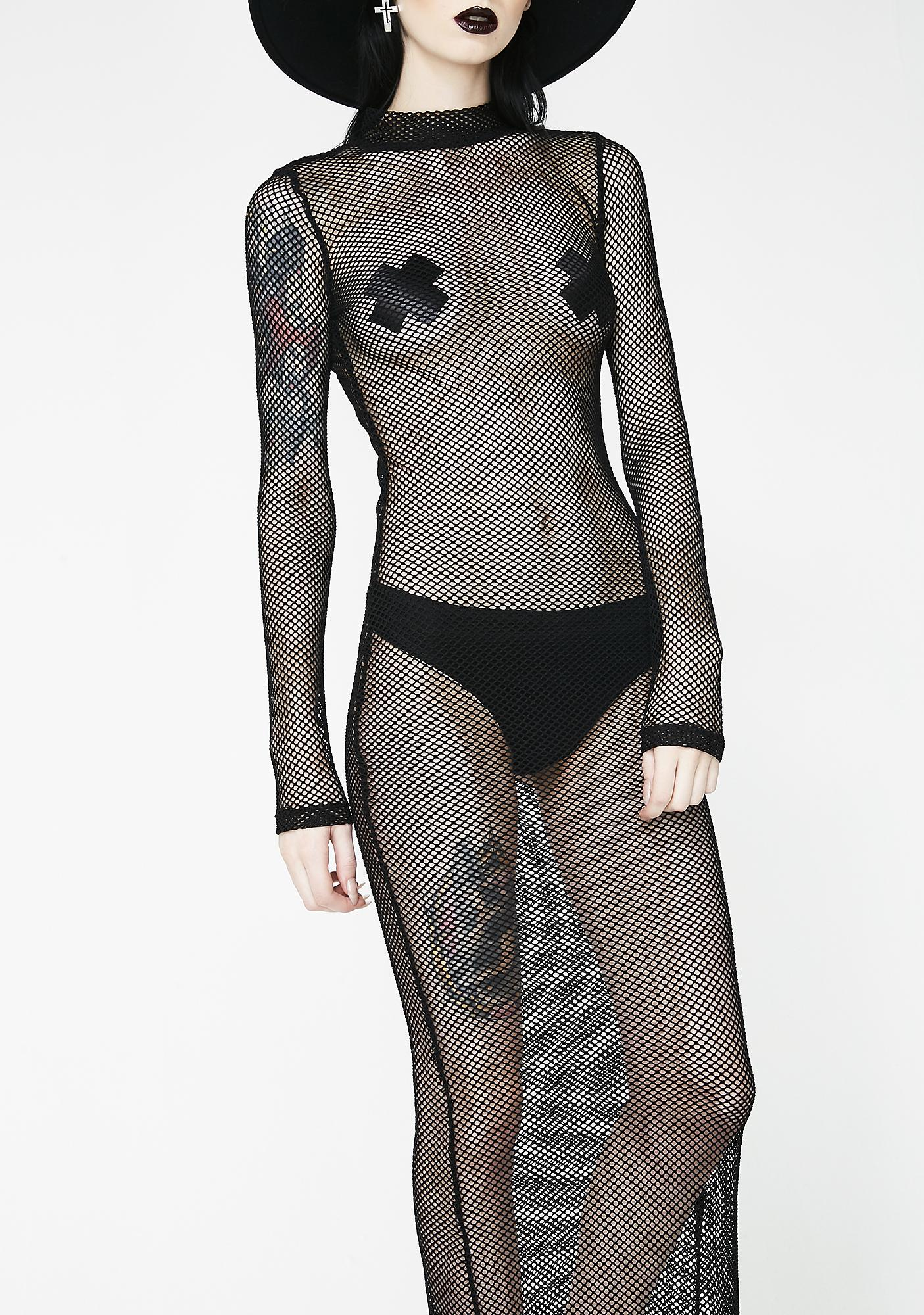 Kiki Riki Wicked Wicked West Fishnet Dress