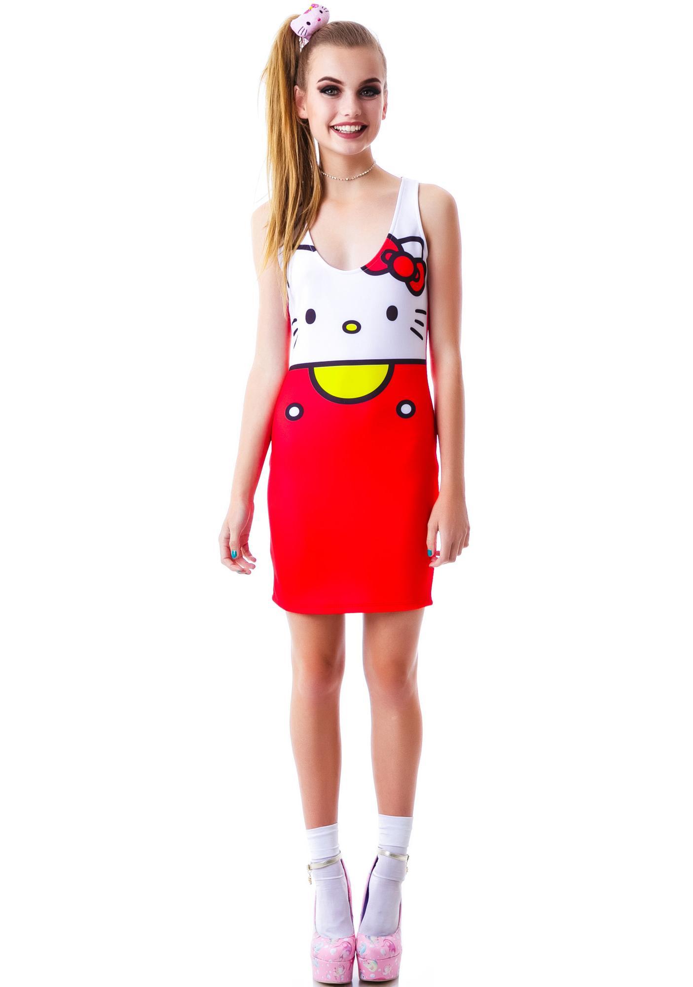 9e08f53ce Japan L.A. Hello Kitty Bodycon Dress | Dolls Kill