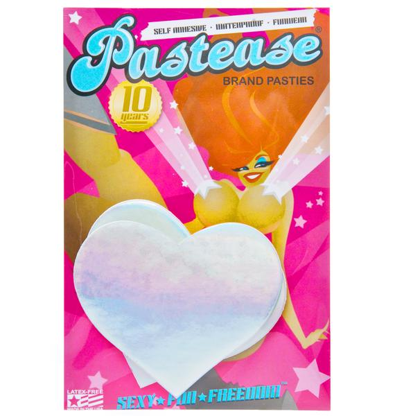 Pastease Electrik Heart Holographic Pasties