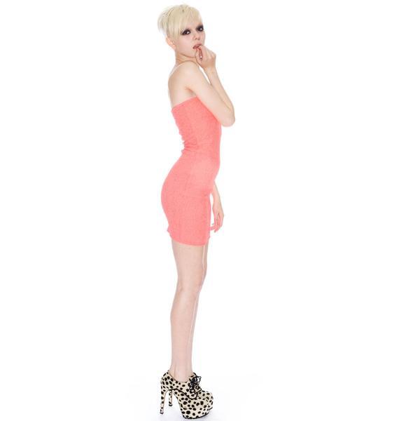 Neon Elastic Mini Dress