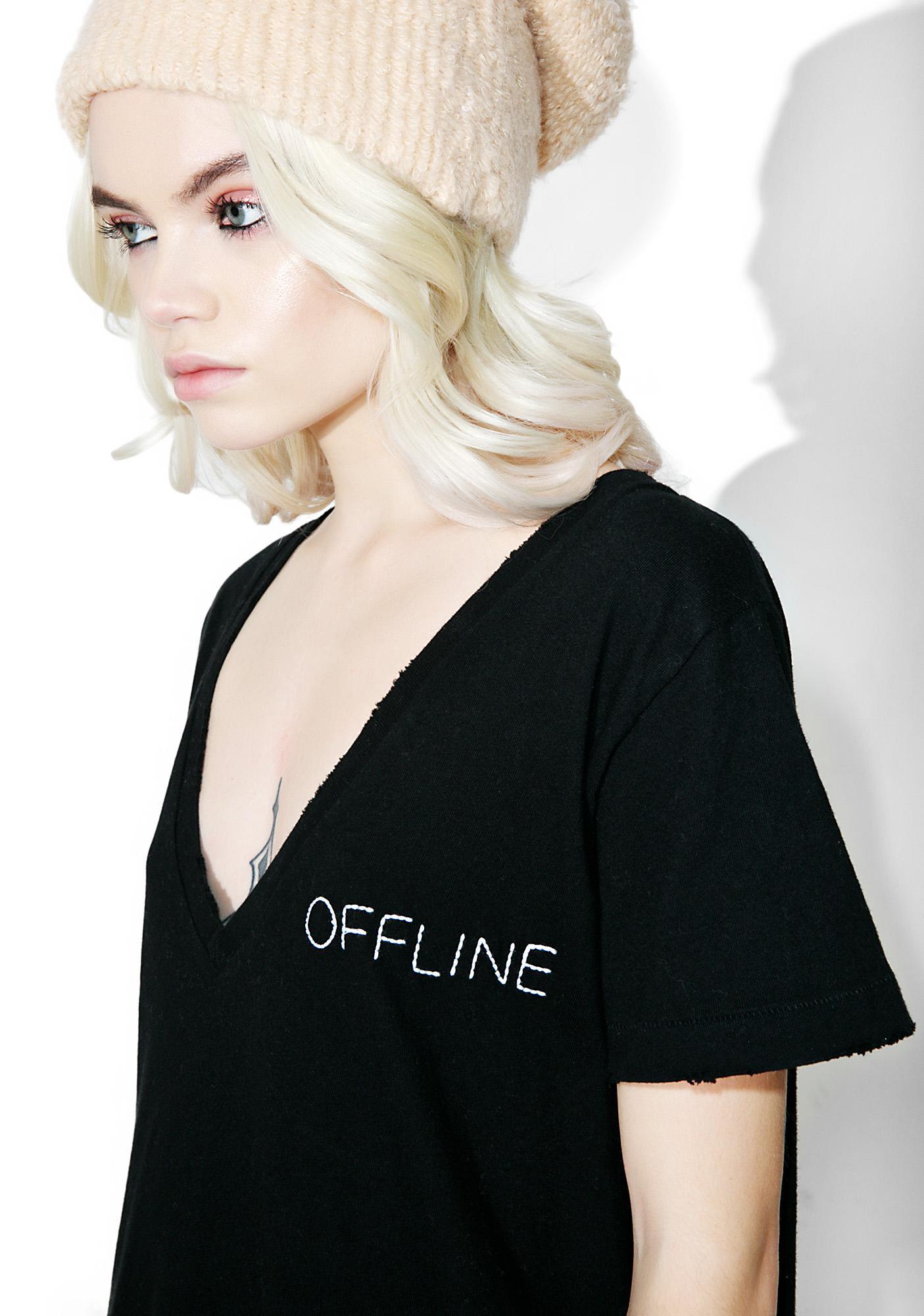 Wildfox Couture Offline Skater V Tee