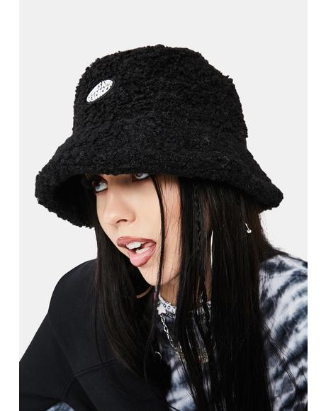 Black Sherpa Bucket Hat