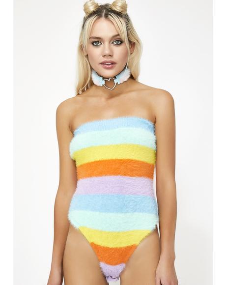 Rainbow Life Fuzzy Bodysuit