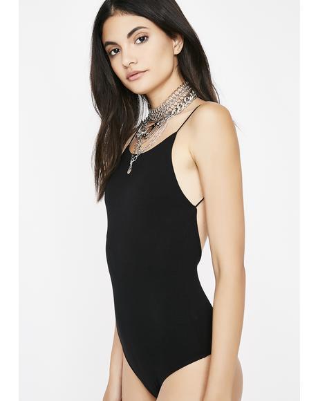 Midnight Slo Mo Backless Bodysuit