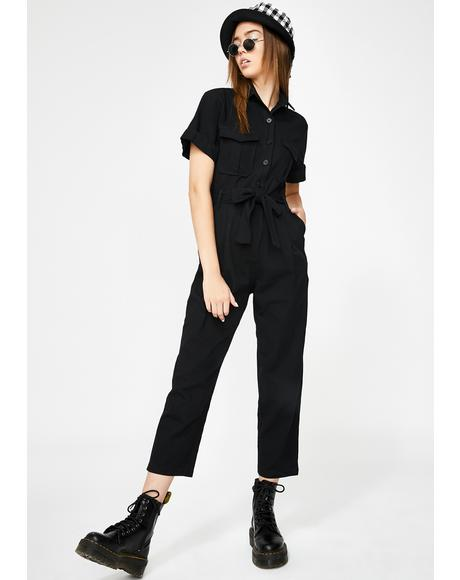 Street Smart Belted Jumpsuit