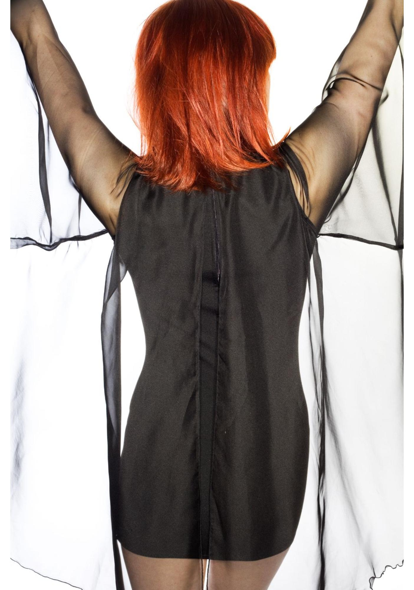UNIF Cape Sleeved Mini Dress