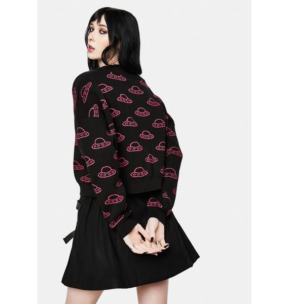 Black Friday Beam Me Up Knit Cardigan