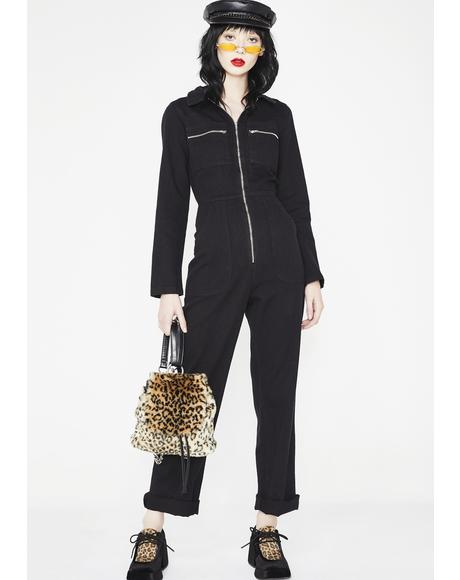 Midnight Detention Junkie Zip Up Jumpsuit