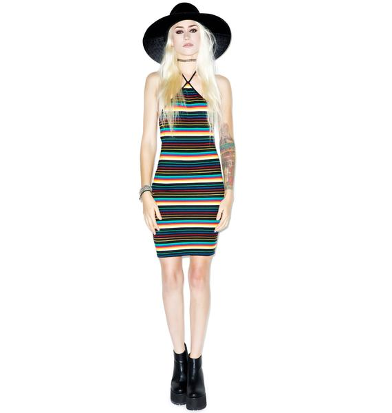Motel Rainbow Kelsey Dress