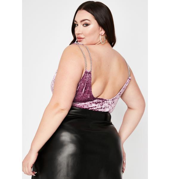 Ur Flirty Fantasy Velvet Bodysuit