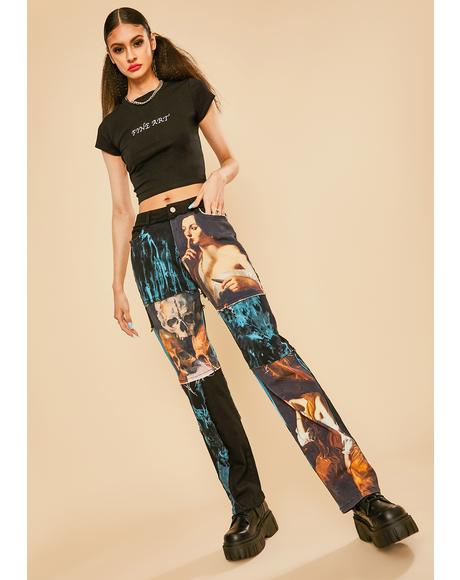 Into The Fantasy Patchwork Jeans