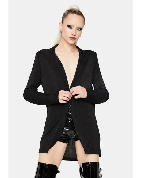 Noir Talk The Talk Oversized Blazer