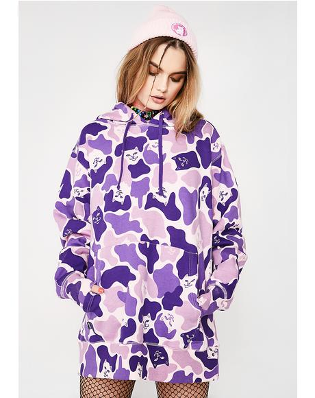 Invisible Purple Camo Hoodie