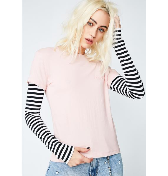 Insight Conflicting Pulse Layered Long Sleeve Top