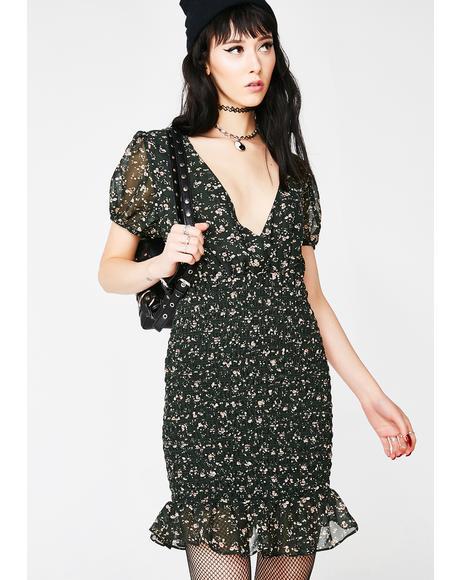Dark Paradise Floral Dress