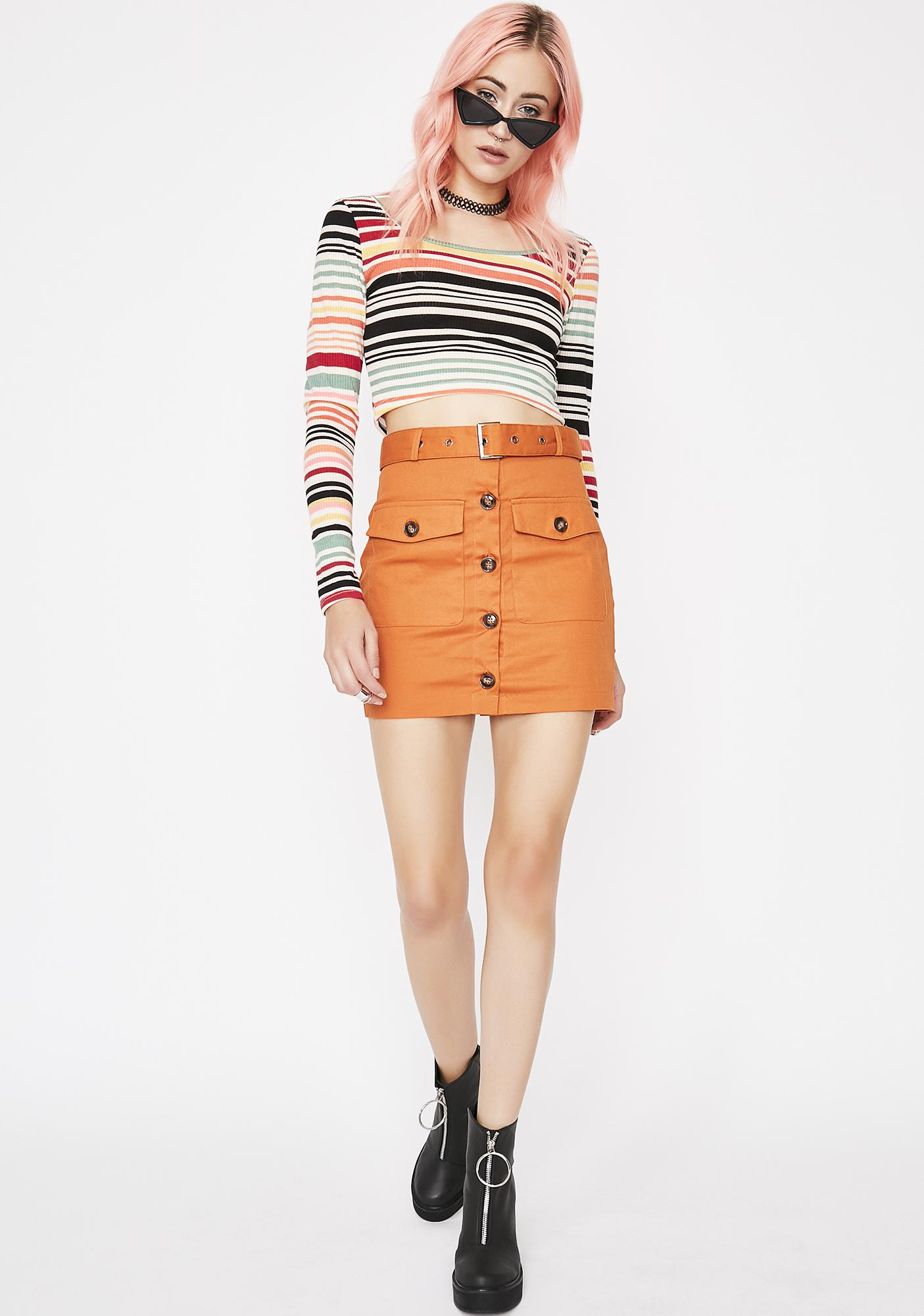 On Safari Mini Skirt