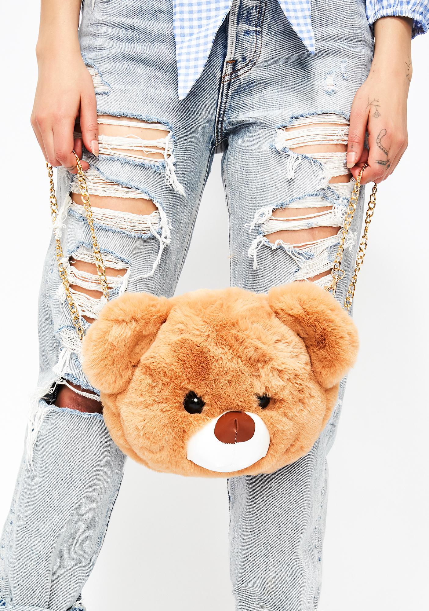 Teddy Bear Convertible Fuzzy Bag