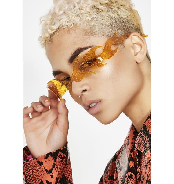 Planet i Orange Flamethrowers Sunglasses