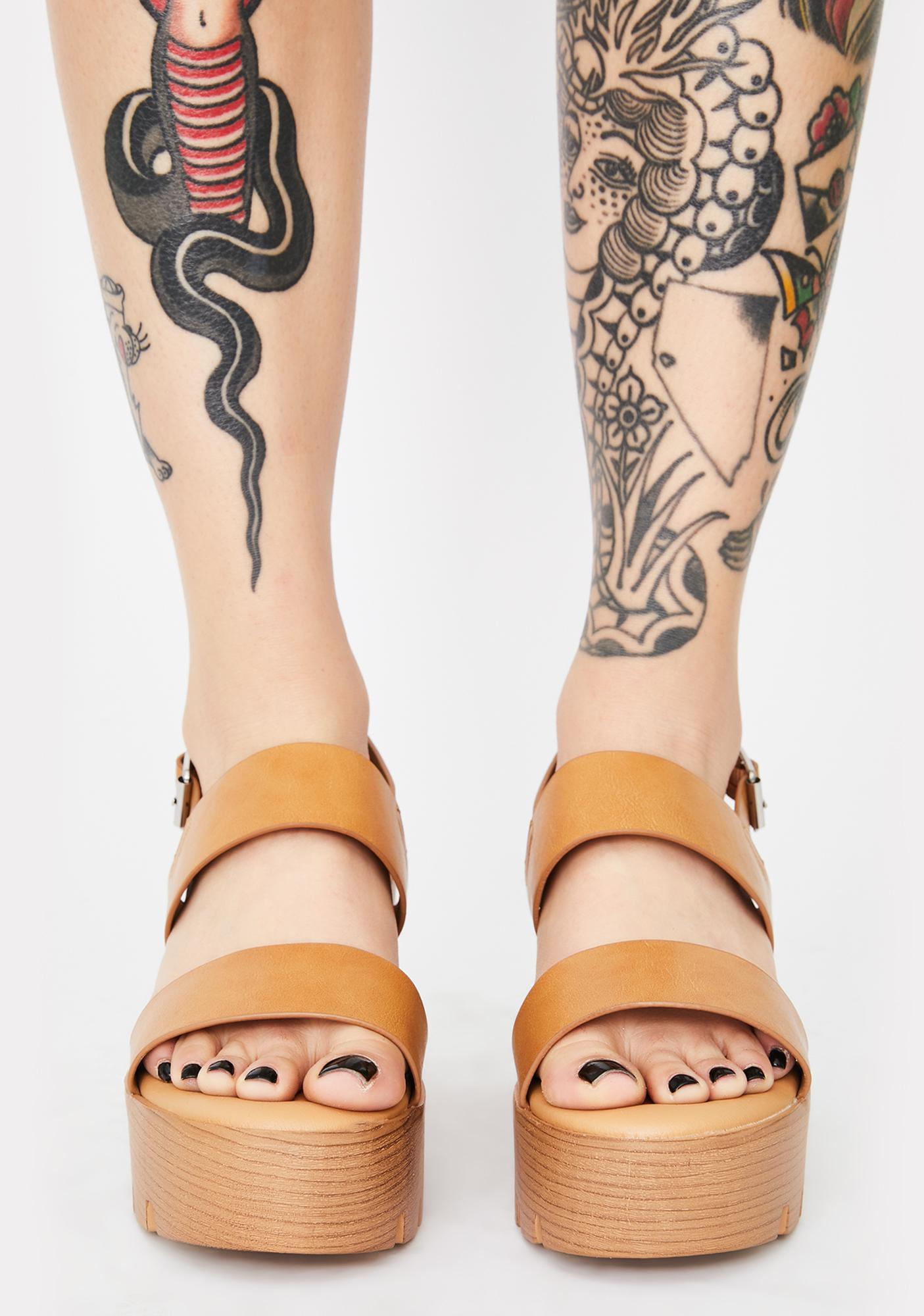 Desert Major Gossip Platform Sandals