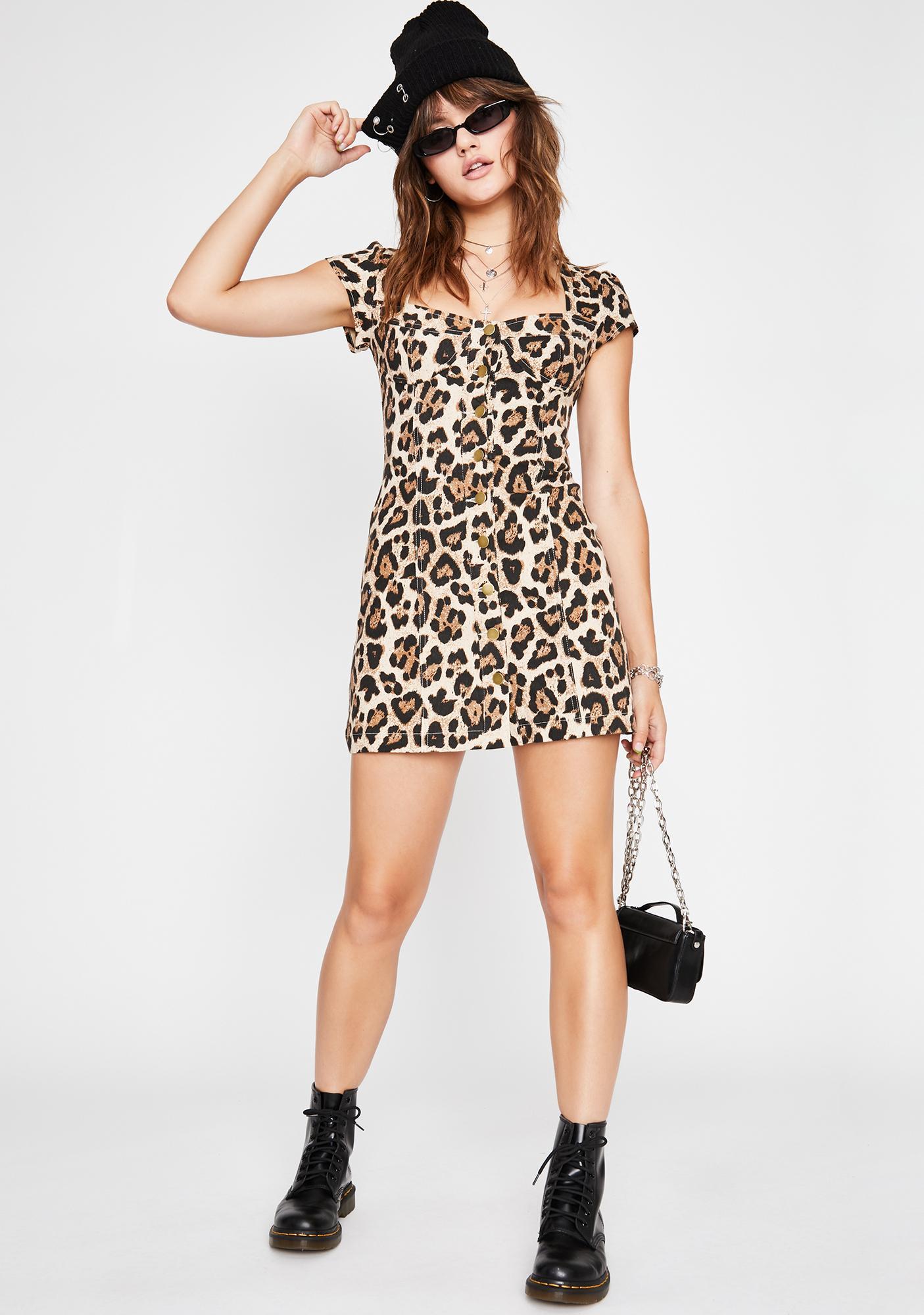 Queen Of Fierce Leopard Dress