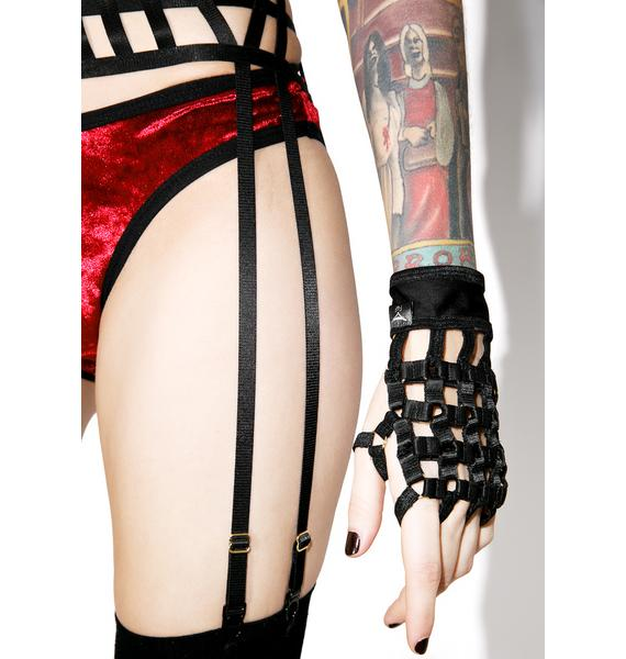 Caged In Fingerless Gloves