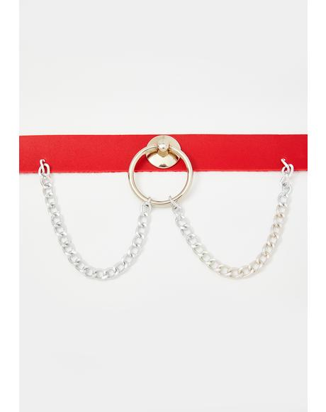 Scarlet Take My Breath Away O-Ring Choker