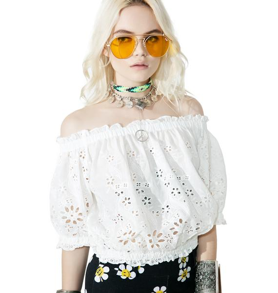 Gretel Off-Shoulder Crop Top