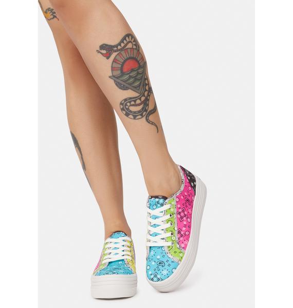 Steve Madden Prism Paisley Bobbi Platform Sneakers