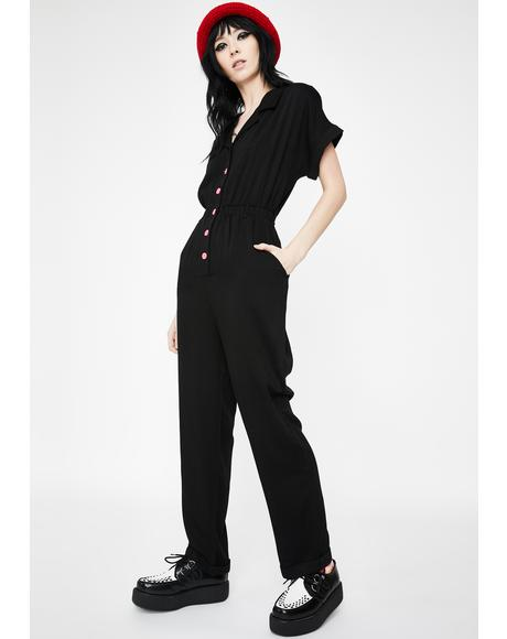 Another Planet Embroidered Jumpsuit