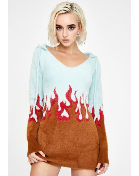 Flame Mohair Sweater Dress
