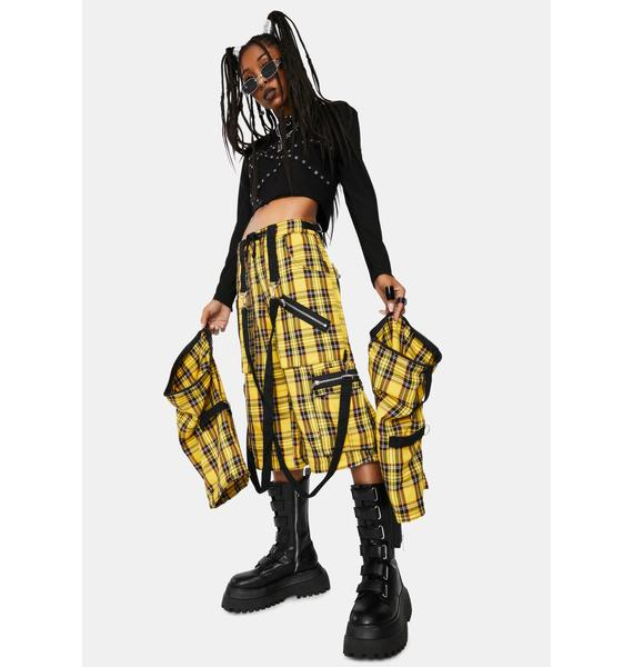 Tripp NYC Yellow Plaid Clash Pants