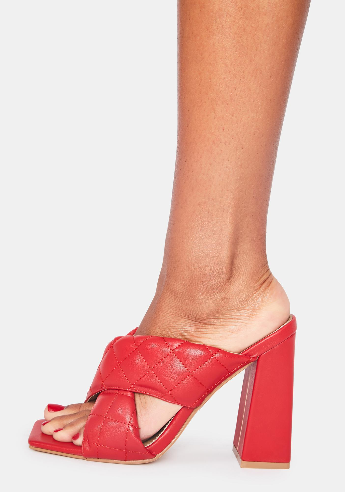 Crimson Exceed Expectations Heeled Sandals
