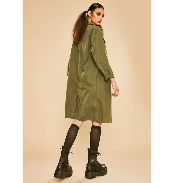 Current Mood Master In Disguise Twill Military Jacket