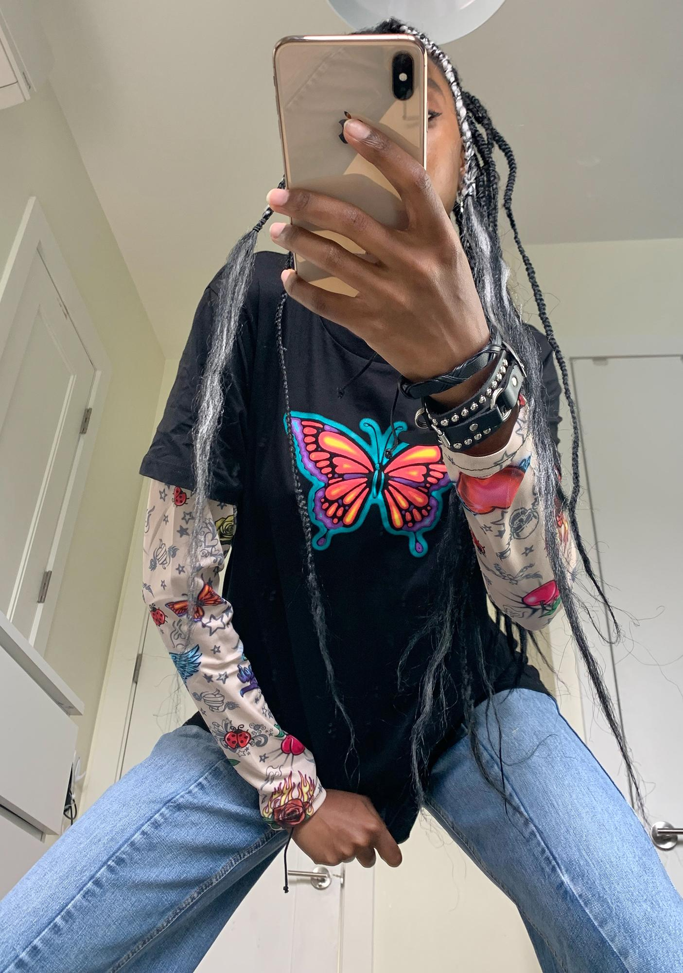dELiA*s by Dolls Kill Against The Wind Layered Tee