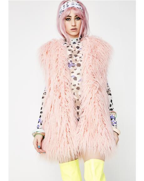 Rose Mohair Vest