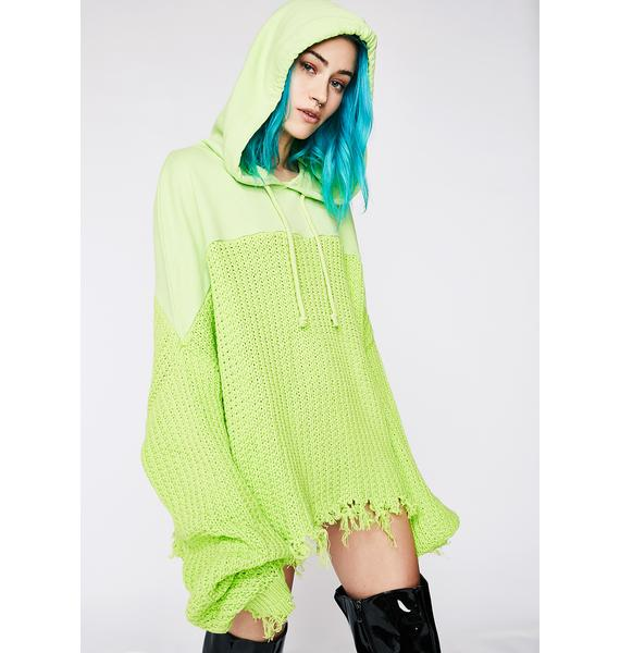 Jaded London Rib Mix Hoodie