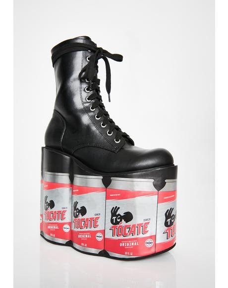 Beer O' Clock Platform Boots