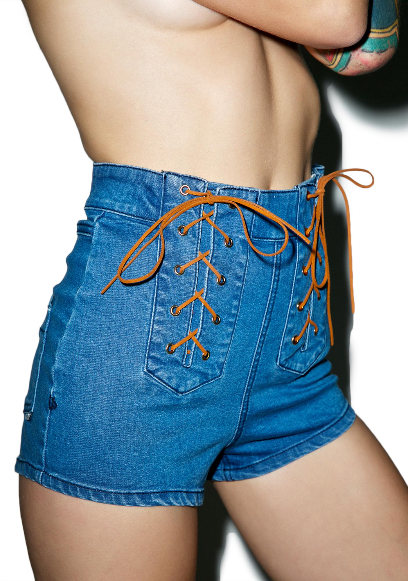 Somedays Lovin Jerry Denim Lace Up Short