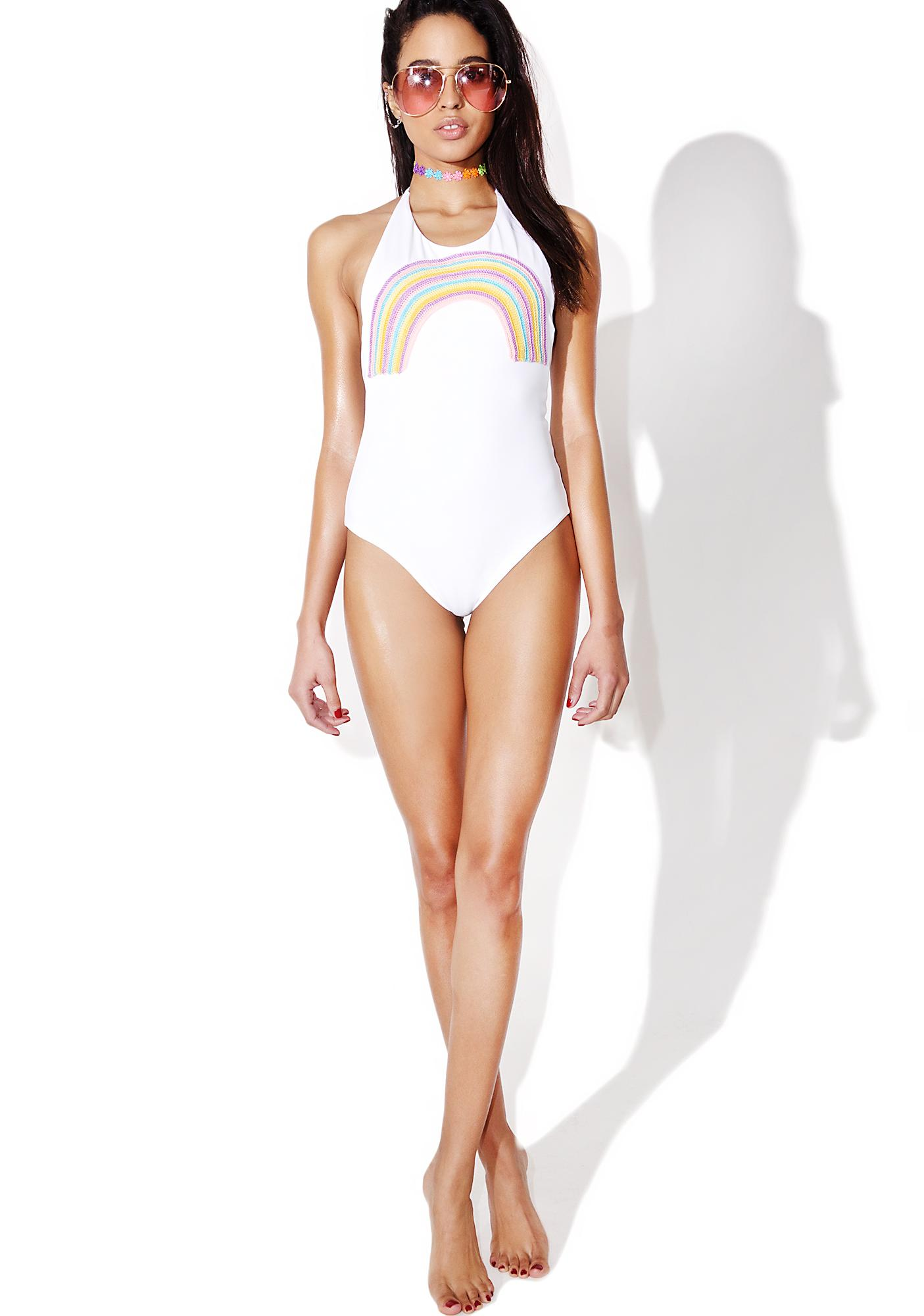 Lolli Swim Rays Rainbow Halter One Piece