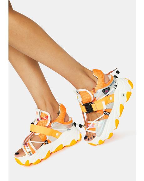 Orange Dragon Fruit Sandals