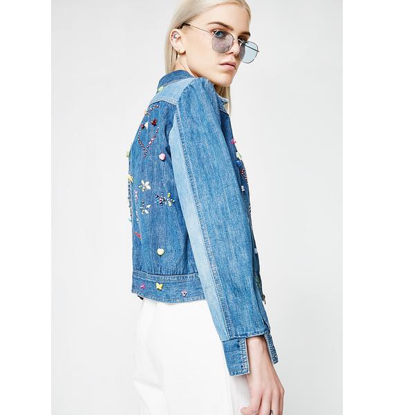 Vintage Embellished Denim Jacket