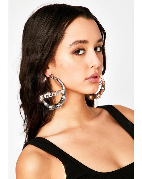 Drip So Hard Hoop Earrings