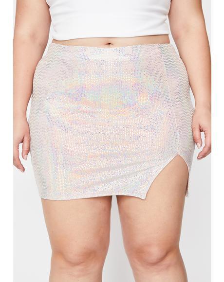 Champagne Servin' Bawdy Sequin Skirt