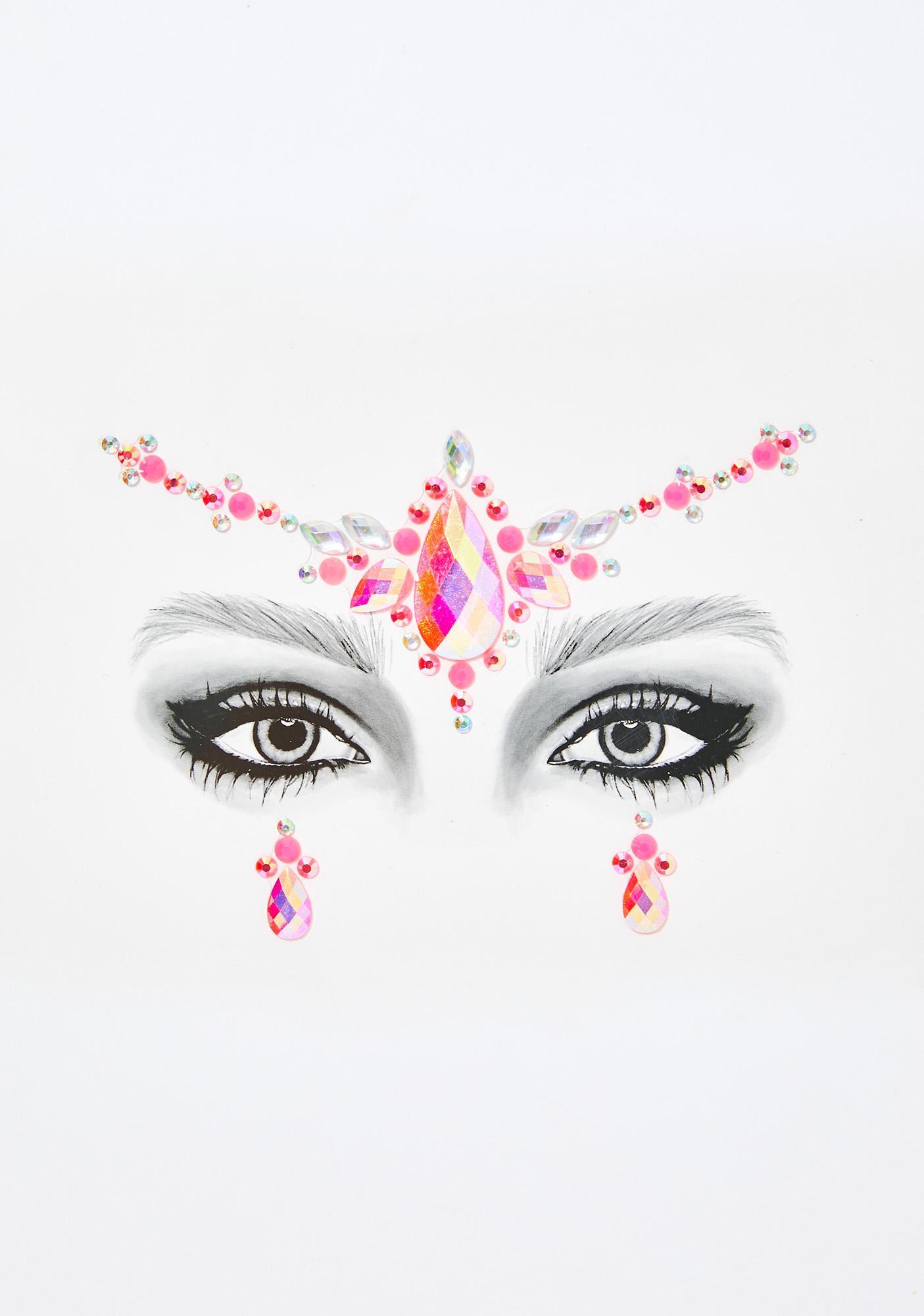 Go Get Glitter Pretty In Pink Face Jewels