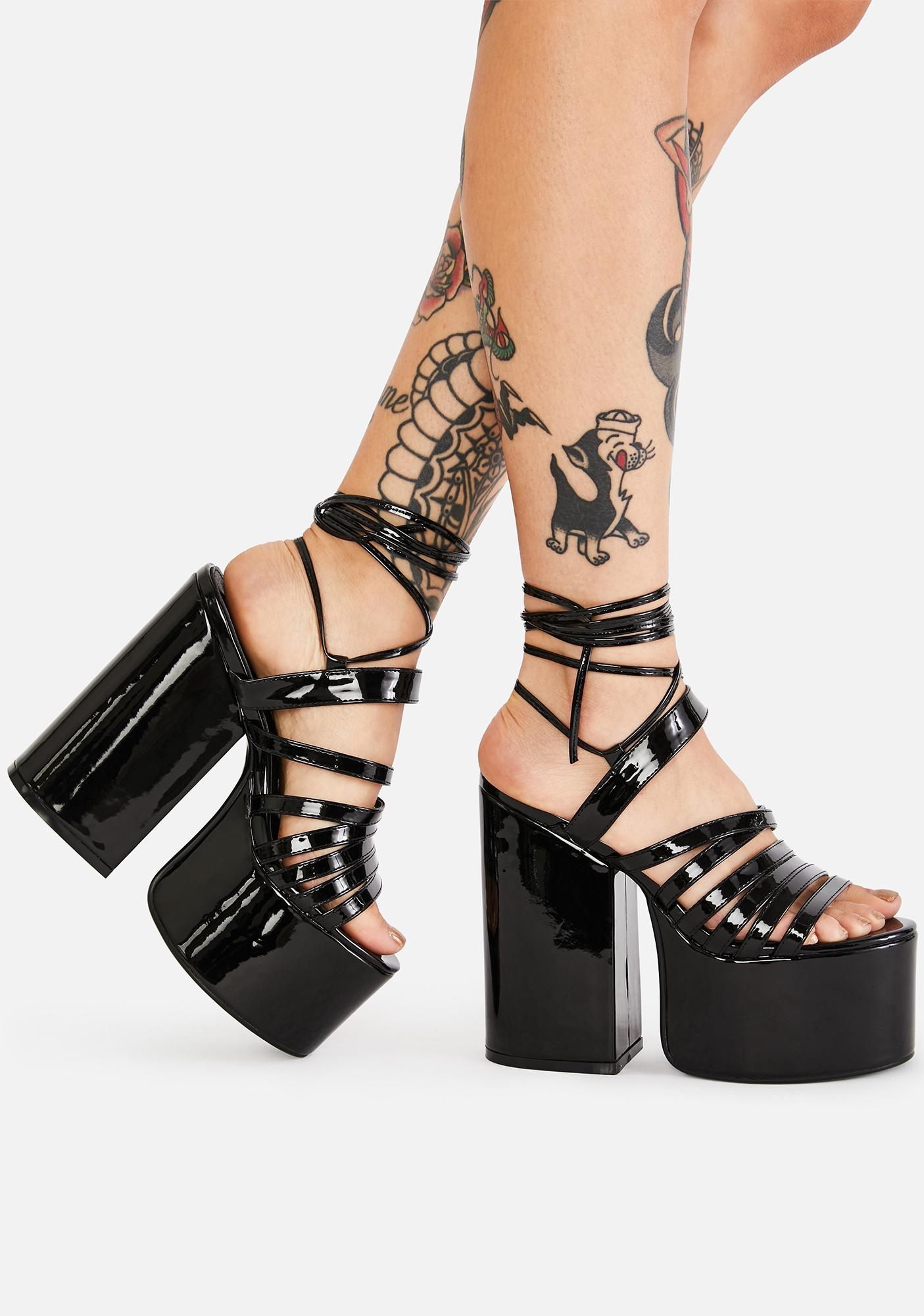 Lamoda Caught Up Platform Heels