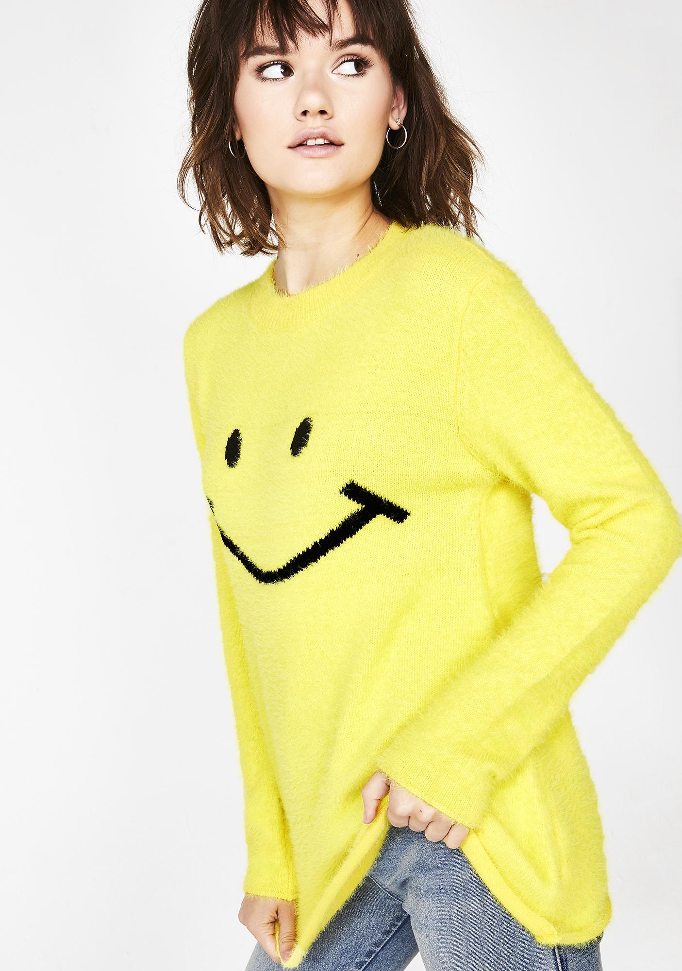 dELiA*s by Dolls Kill Smile Mania Fuzzy Sweater